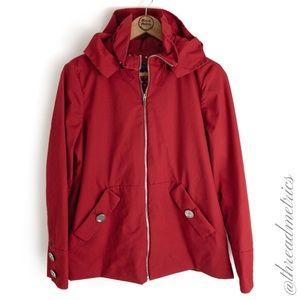 Jones New York • Polka Dot Lined Red Jacket